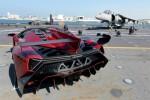 Lamborghini Veneno Roadster ra mắt trên tàu sân bay