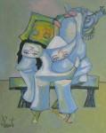Xem tranh Nghệ thuật Đảo ngược của họa sỹ Nguyễn Đại Giang