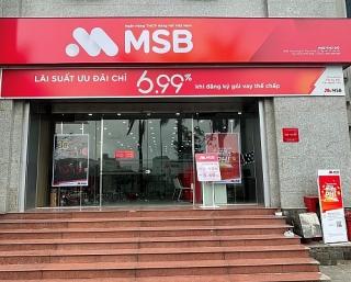 Phòng giao dịch MSB Thụy Khuê được đổi tên và chuyển địa điểm hoạt động