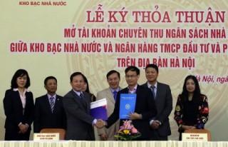 BIDV và KBNN ký kết Thỏa thuận mở tài khoản chuyên thu NSNN