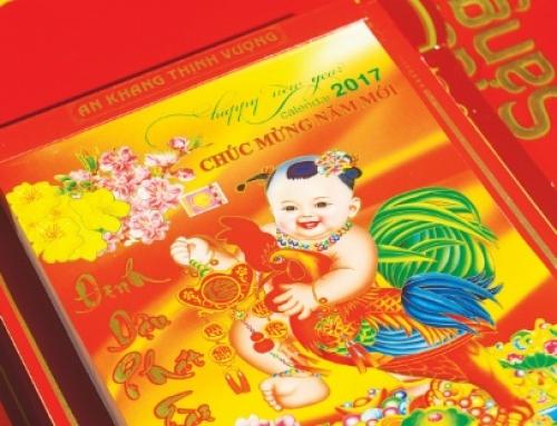 Tờ lịch đầu năm mới