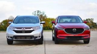 Giá lăn bánh Mazda CX-5 và Honda CR-V trong năm 2018