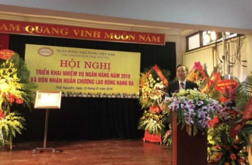 NHNN chi nhánh Thái Nguyên tổ chức Hội nghị triển khai nhiệm vụ ngân hàng năm 2018