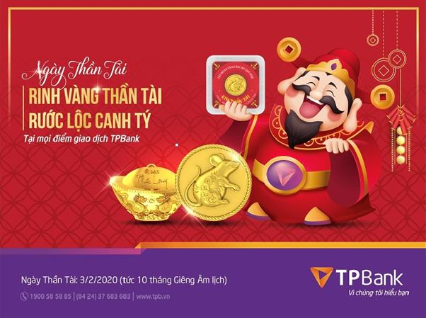 Vàng Kim Tý TPBank sẽ đắt khách trong ngày vía Thần Tài