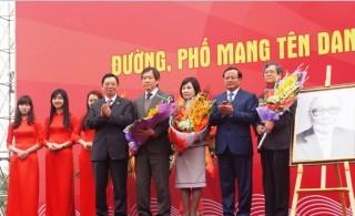 Hà Nội chính thức gắn biển tên đường 3 danh nhân họ Võ