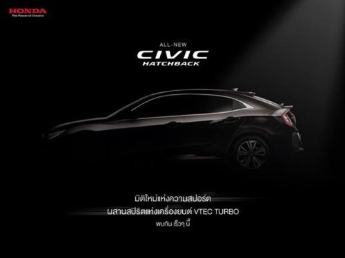Honda Civic Hatchback sắp được ra mắt tại Thái Lan