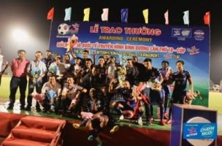 B.Bình Dương vô địch Giải Bóng đá quốc tế truyền hình Bình Dương Cúp Number 1 lần thứ 18