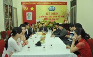 Phó Thống đốc NHNN Đào Minh Tú chúc mừng ngày Thầy thuốc Việt Nam