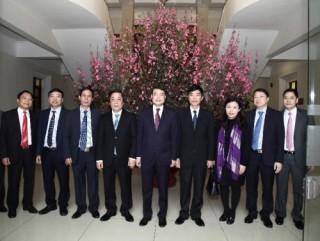 Thống đốc NHNN Lê Minh Hưng thăm, chúc Tết cán bộ, giảng viên Học viện Ngân hàng