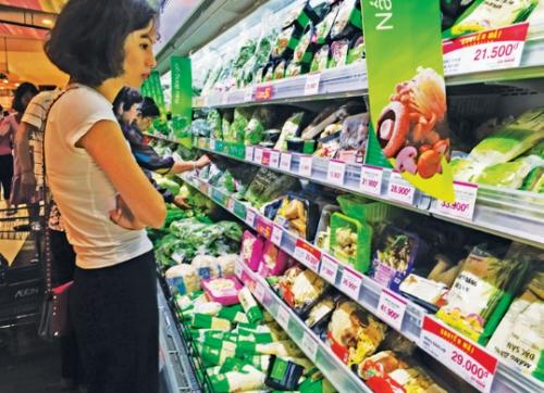 Giá thực phẩm tăng trong dịp Tết