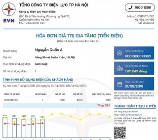 Hóa đơn điện tử và thông báo tiền điện mới sẽ được áp dụng từ 1/3