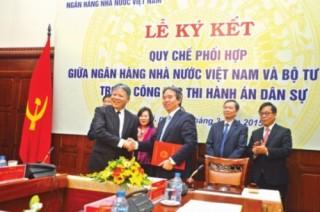NHNN phối hợp Bộ Tư pháp đẩy nhanh xử lý nợ xấu