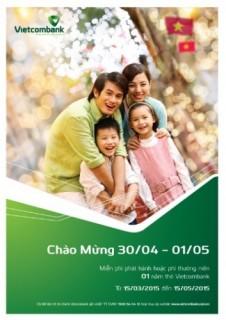 Vietcombank ưi đãi chủ thẻ nhân dịp 30/4 - 1/5