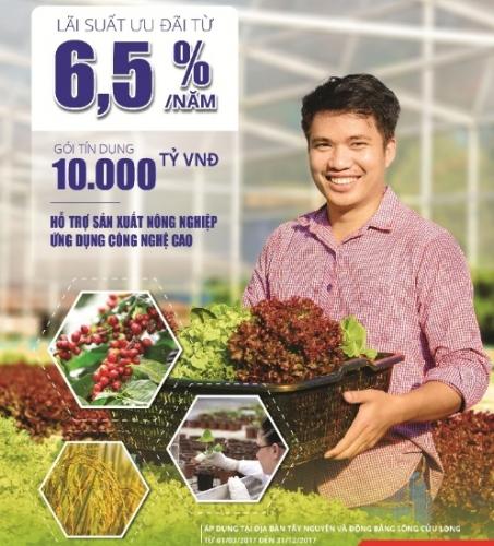BIDV: 10.000 tỷ đồng cho vay sản xuất nông nghiệp với lãi suất hấp dẫn