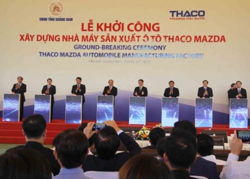 Khởi công xây dựng Nhà máy sản xuất ô tô Thaco Mazda