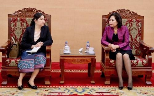 NHTW hai nước Việt Nam - Lào tăng cường hợp tác, chia sẻ kinh nghiệm