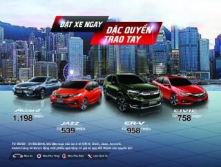 Honda Việt Nam công bố giá bán lẻ các mẫu ôtô nhập khẩu nguyên chiếc từ Thái Lan