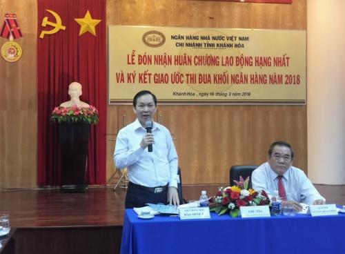 Phó Thống đốc NHNN Đào Minh Tú làm việc với ngân hàng trên địa bàn tỉnh Khánh Hòa