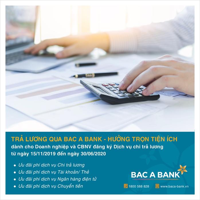 BAC A BANK: Tăng cường giao dịch trực tuyến tránh Covid-19, tặng doanh nghiệp nhiều ưu đãi