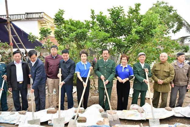 Quỹ Hành Trình Xanh và NCB tài trợ xây nhà cho 2 cựu chiến binh tại tỉnh Nam Định