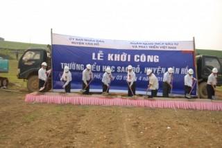 Phó Thống đốc Đào Minh Tú dự Lễ khởi công Trường tiểu học Sao Đỏ