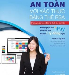 VietinBank iPay bổ sung xác thực giao dịch bằng thẻ RSA