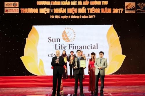 Sun Life Việt Nam trong Top 10 Thương hiệu nổi tiếng 2017
