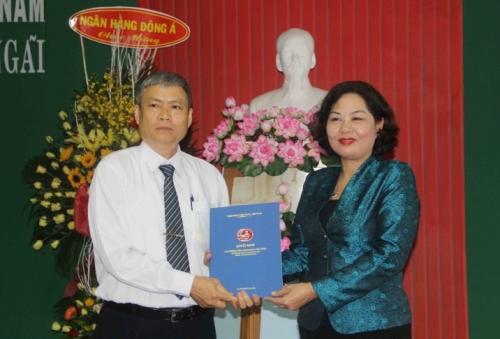 Công bố Quyết định bổ nhiệm lại giám đốc NHNN chi nhánh Quảng Ngãi