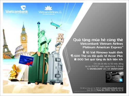 Nhiều ưu đãi dành cho chủ thẻ Vietcombank Vietnam Airlines Platinum American Express®