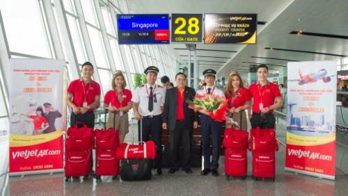 Vietjet mở thêm đường bay từ Hà Nội đi Singapore