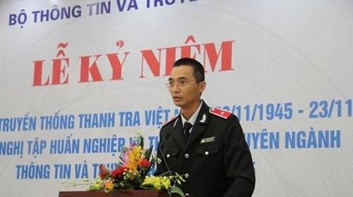 Khởi tố, bắt tạm giam Chánh thanh tra Bộ Thông tin và Truyền thông
