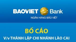 BAOVIET Bank thành lập chi nhánh Lào Cai