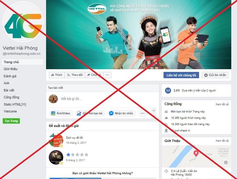 viettel go bo 186 trang fanpage mao danh tren facebook