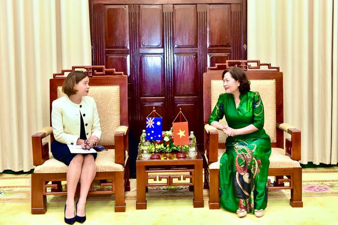 Thống đốc Nguyễn Thị Hồng tiếp Đại sứ Australia tại Việt Nam