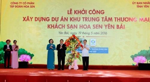 Tập đoàn Hoa Sen khởi công xây dựng dự án Hoa Sen Yên Bái