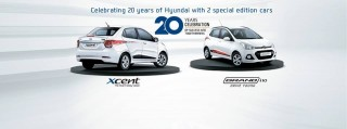Hyundai ra mắt Grand i10 và Xcent bản đặc biệt nhân kỉ niệm 20 năm tại Ấn Độ