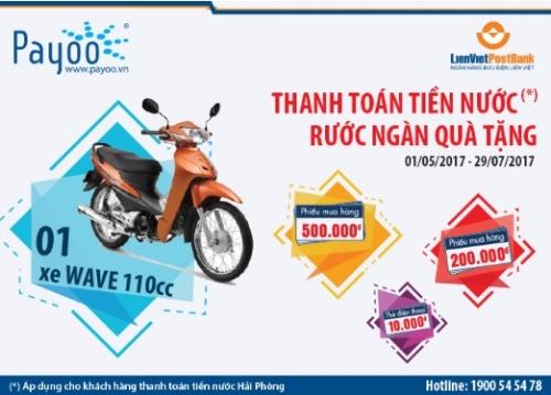 Thanh toán tiền nước, rước ngàn quà tặng cùng Ví Việt