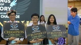 SV trường ĐH Ngân hàng TP.HCM đạt giải Nhất cuộc thi 'Chiến lược kinh doanh 2018'