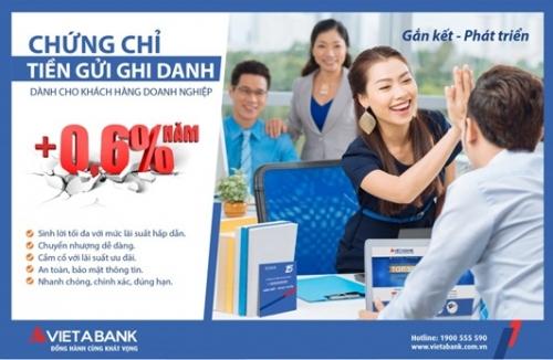 VietABank ra mắt Chứng chỉ tiền gửi dành cho khách hàng DN