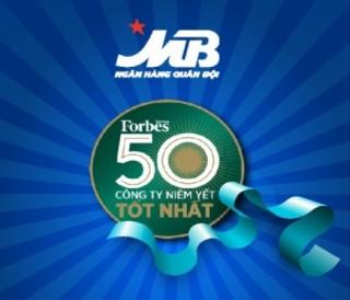 MB lọt Top 50 công ty niêm yết tốt nhất Việt Nam 2018
