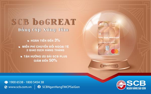 SCB triển khai sản phẩm thẻ thanh toán SCB beGREAT