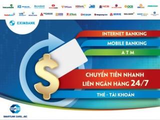 Eximbank nâng hạn mức chuyển tiền nhanh liên ngân hàng