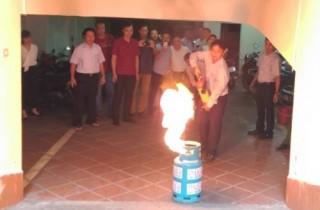 Thời báo Ngân hàng: Tập huấn phòng cháy, chữa cháy
