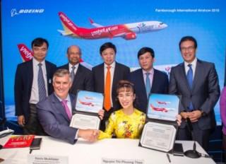 Vietjet mua thêm máy bay Boeing và Airbus