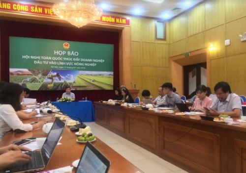 """Hội nghị toàn quốc """"Thúc đẩy DN đầu tư vào lĩnh vực nông nghiệp"""""""