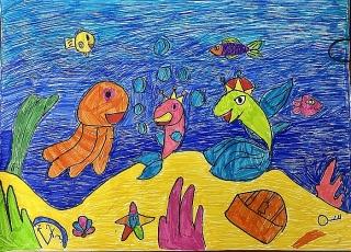 """Thi vẽ tranh """"Biển trong mắt em"""""""