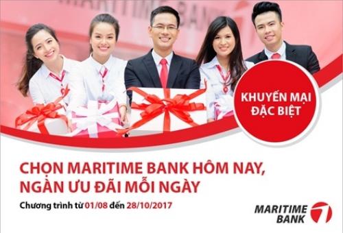 Ngàn ưu đãi mỗi ngày cùng Maritime Bank