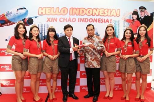 Vietjet mở đường bay từ TP.HCM đi Jakarta