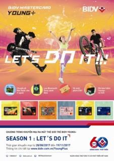 Nhiều ưu đãi với bộ thẻ Young Plus - Let's do it của BIDV