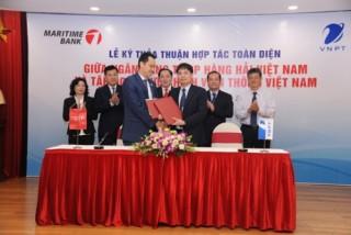 Maritime Bank và VNPT hợp tác cung cấp các dịch vụ thanh toán điện tử